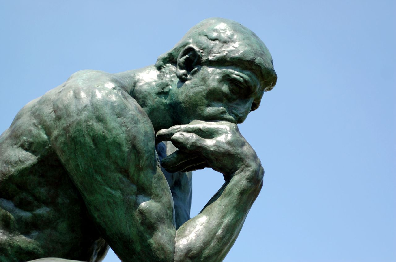 Close up of Rodin's The Thinker - copyright Brian Hillegas