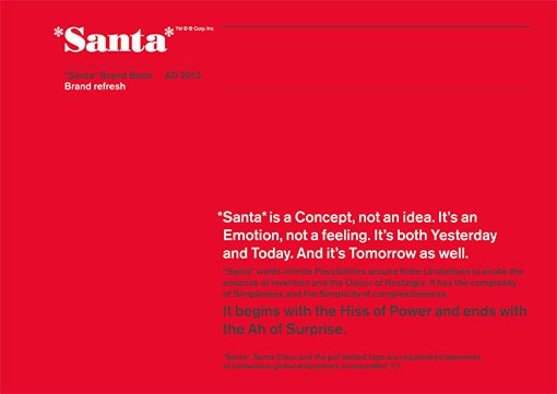 Santa spoof brand book from Quietroom branding agency
