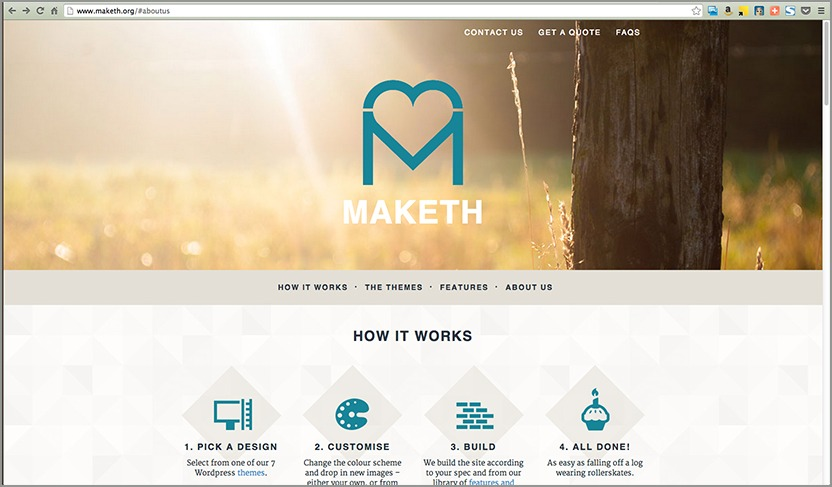 Maketh - beautiful websites for lovely people