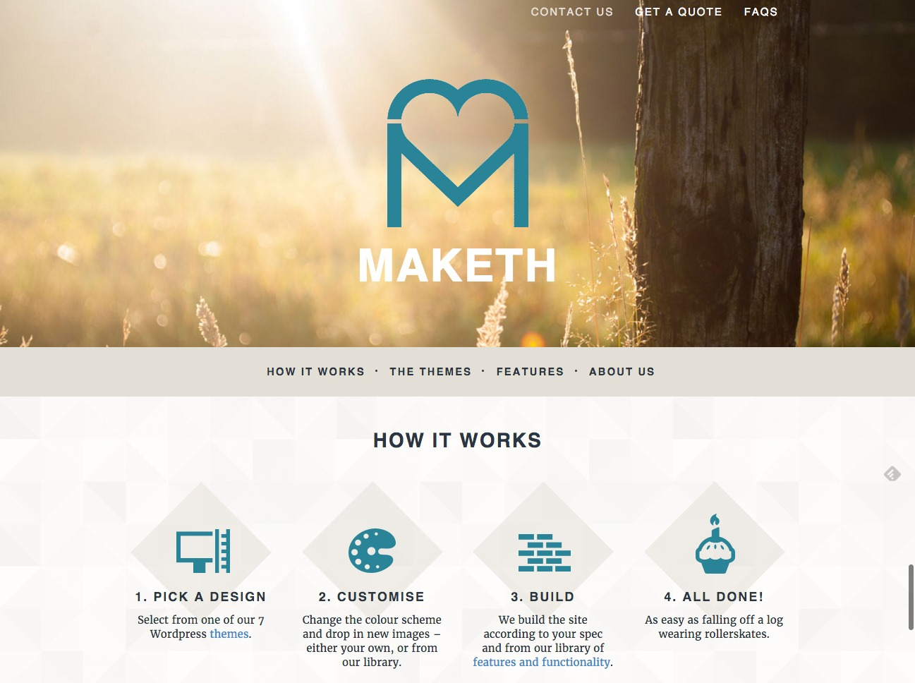 Maketh website