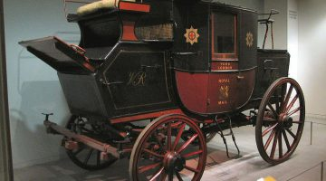 18th century Royal Mail coach in Science Museum