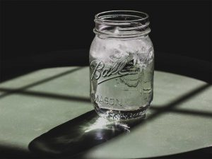 Chilled water in a jar - on post about improving a water machine on Cecilia Unlimited website