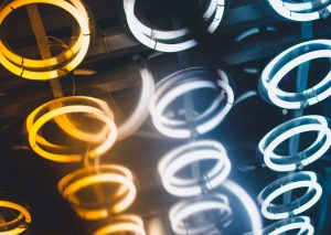 energy image - glowing rings - article about UX writing