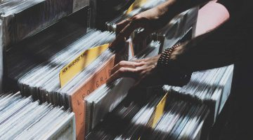 Cecilia Unlimited newsletter 2 - the difficult second album - person flicking through vinyl records